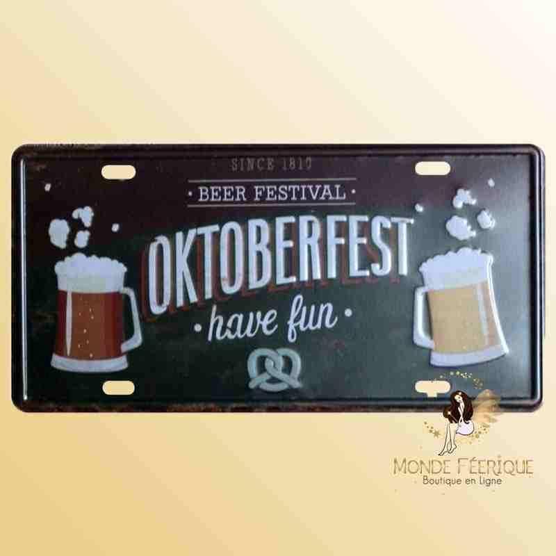 Plaque Décoration Fête de la Bière