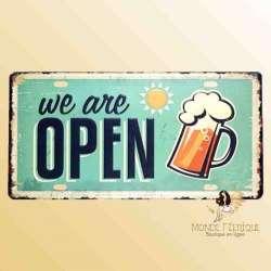 ouvert décoration bar biere déco plaque ouverture commerce