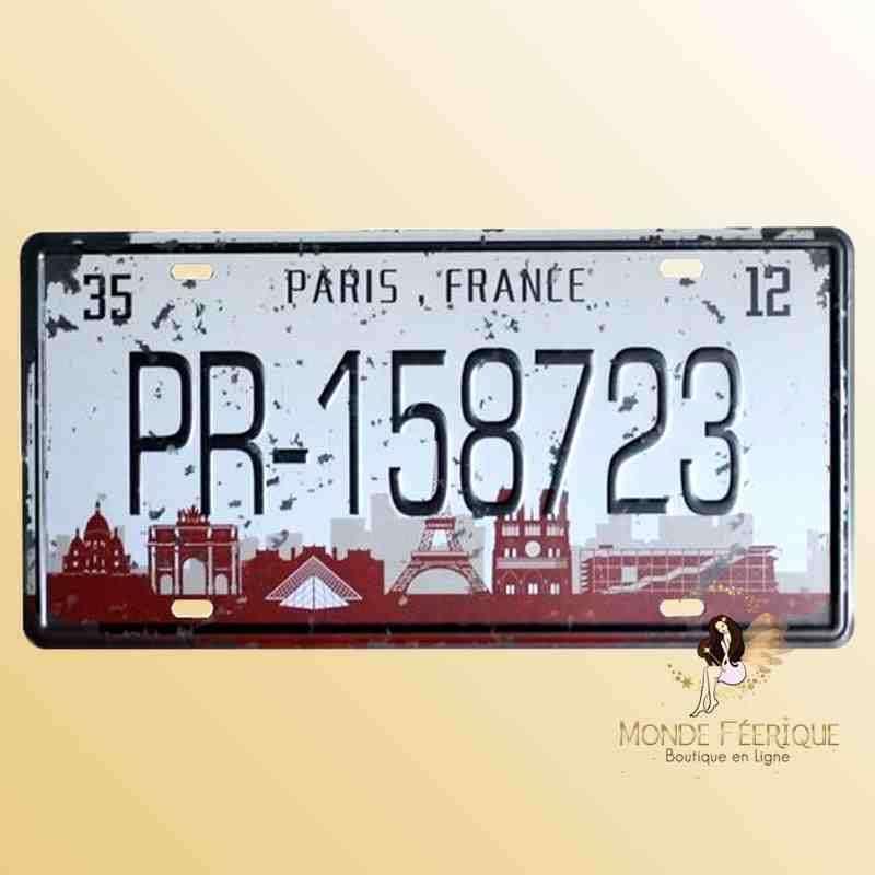 Plaque Déco Vintage Paris France
