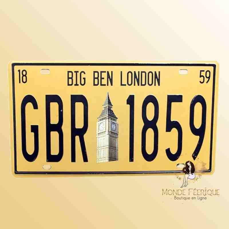 Plaque Déco Vintage Big Ben London