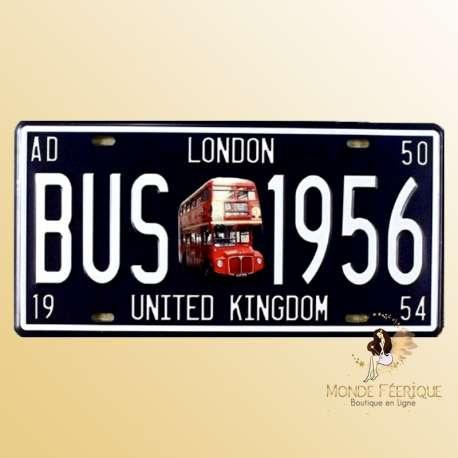 plaque deco anglaise vintage decoration mur bus anglais