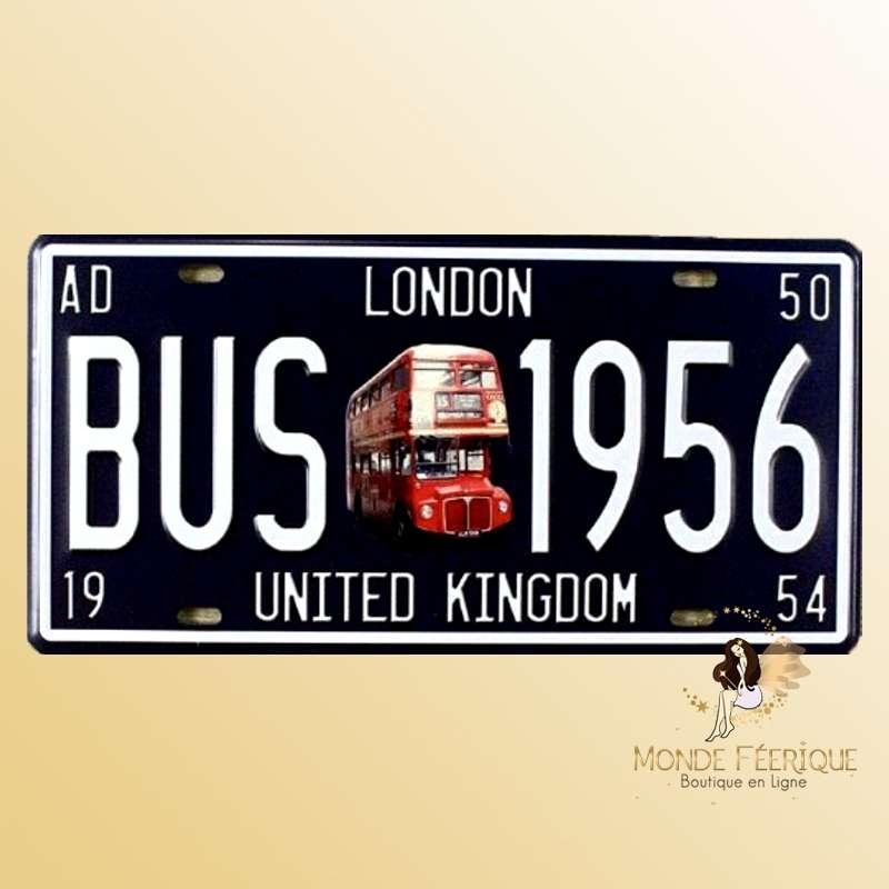 Plaque Décoration Vintage Bus Londonien