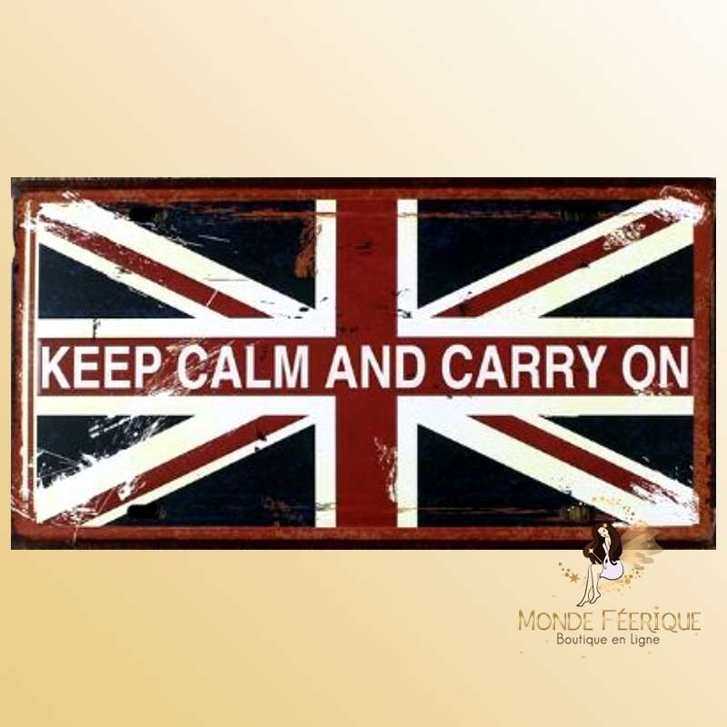 Plaque Décoration murale UK Keep Calm
