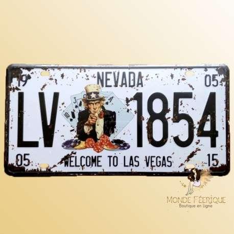 plaque deco vintage Las Vegas Oncle sam mur