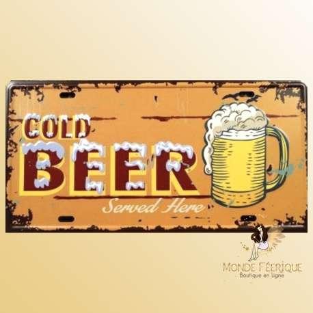 plaque decoration bieres mur