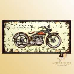 plaque decoration harley davidson mur