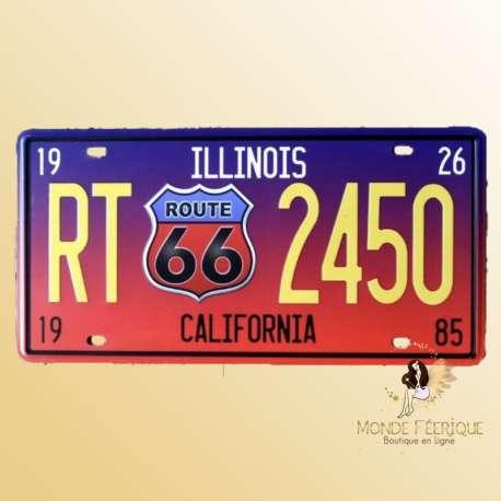 plaque en metal deco route 66 californie USA