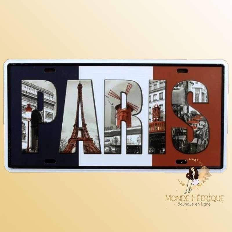 Décoration mur Paris Plaque en metal