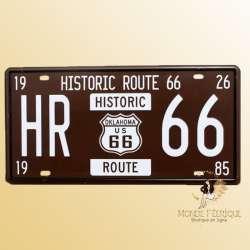 plaque voiture USA vintage