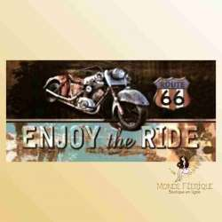 route 66 motos plaques vintage de decoration de collection