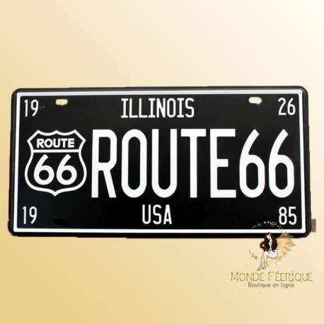 route 66 USA plaque decoration en metal