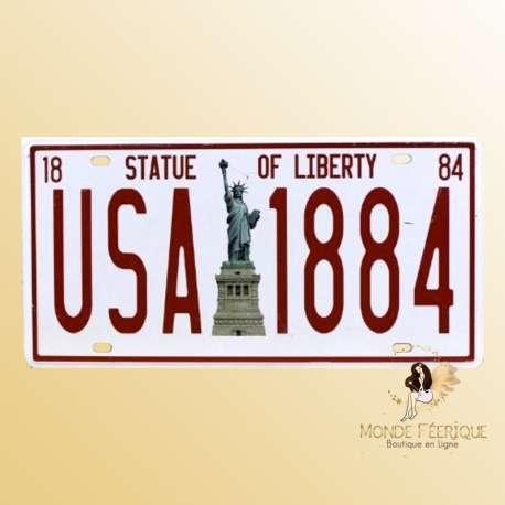 USA plaque decoration vintage statue liberte