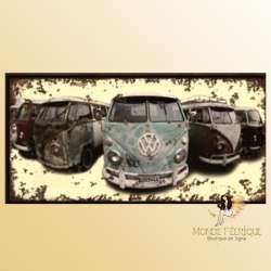 van vintage VW decoration mur plaque en metal VW