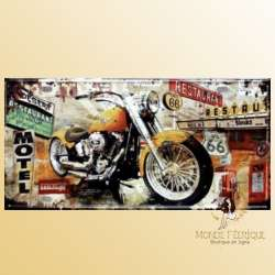 Plaque en metal vintage motos