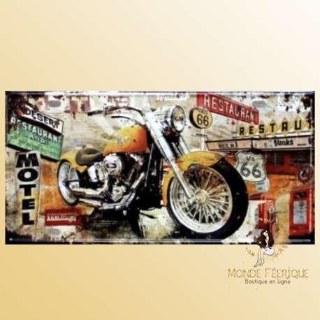 vintage décoration plaque motos artistique