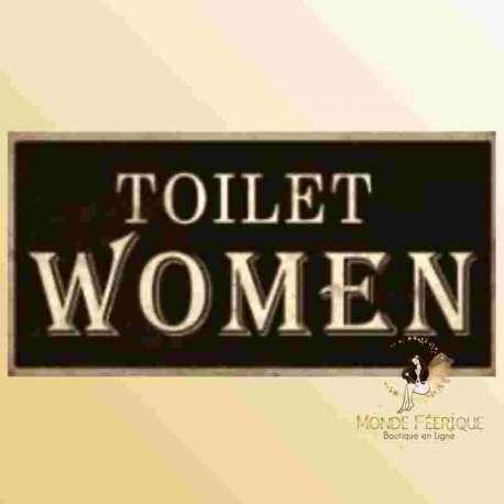 wc femme toilette femme plaque decoration porte toilettes