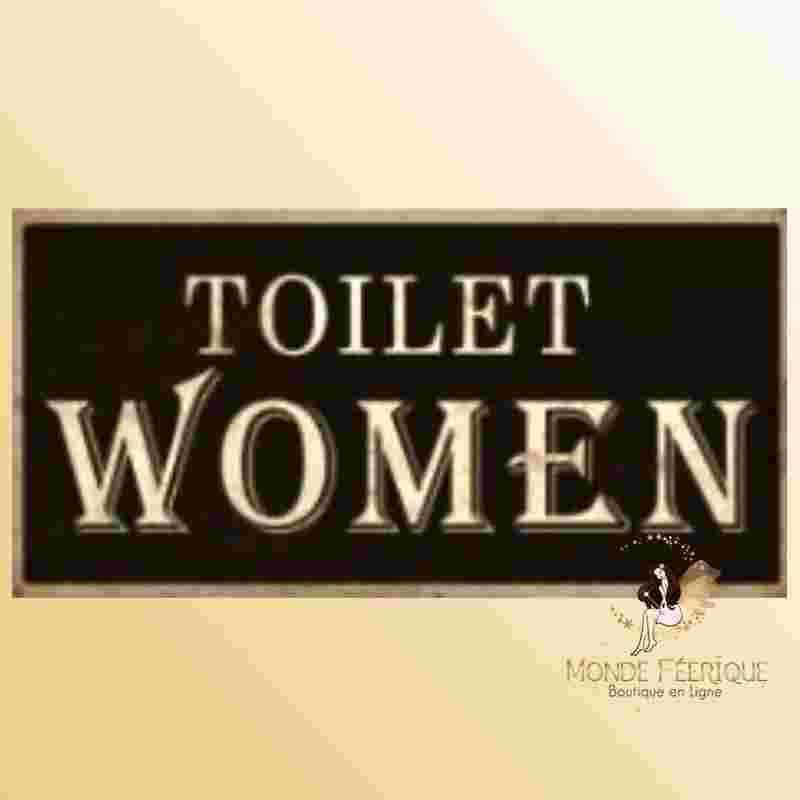 Plaque en metal Toilettes Femmes