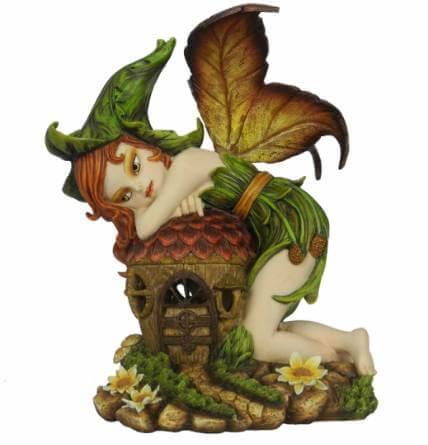Grande Figurine Fée Pixie avec Lumière -- 26 cm