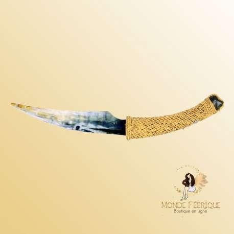 couteau silex prehistoire decoration