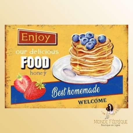 Plaque Metal decoration crepe pancake