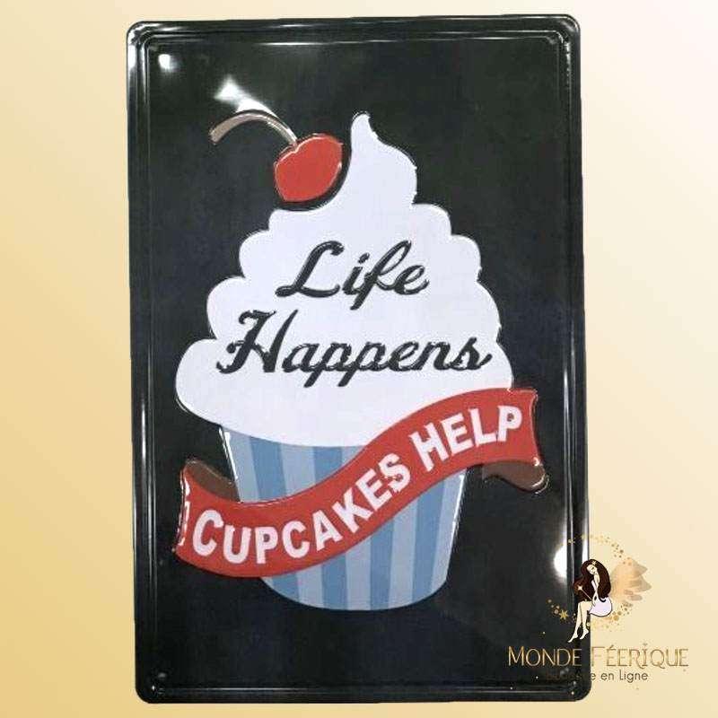 Plaque Metal Premium Cupcake 20x30cm