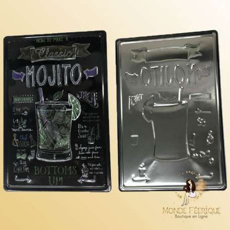 Plaque Metal decoration mojito