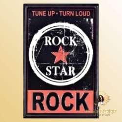 Plaque Metal decoration rock plaque deco vintage