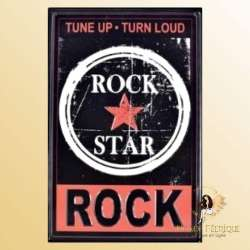 Plaque Metal Rock Premium 30x40cm