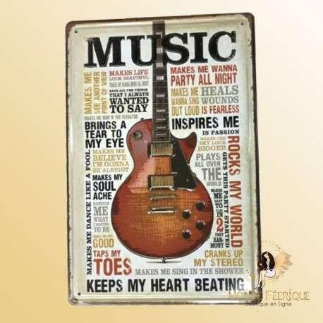 Plaque decoration theme musique