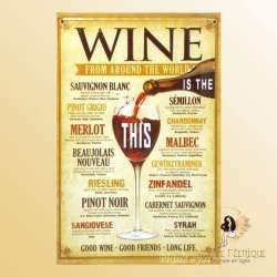 Plaque Décoration decoration vin bar a vins