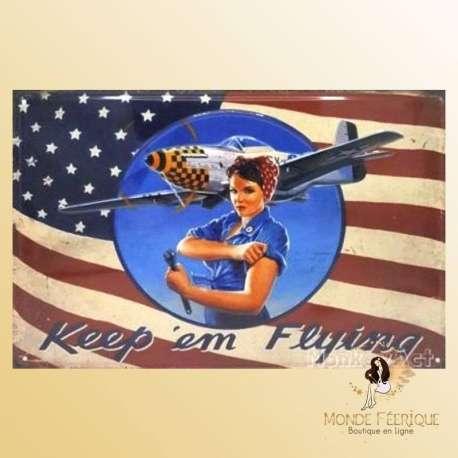 Plaque decoration vintage USA