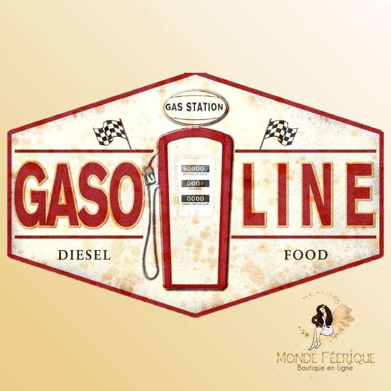 Plaque Décoration Gasoline Premium 30x20cm