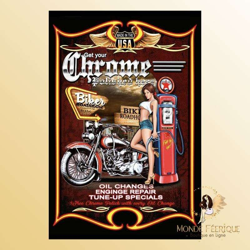 Plaque Décoration vintage americaine garage USA Premium 30x40cm