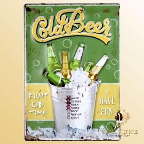 plaque deco vintage bieres