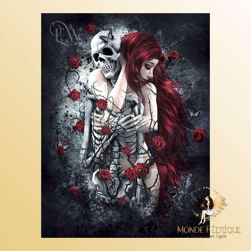 Plaque Décoration Amour gothique Premium 30x40cm