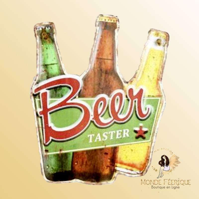 Plaque Décoration Mur buveurs de Bières Premium 30x23cm