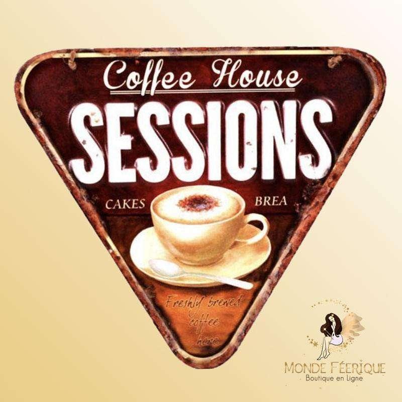 Plaque Décoration Maison du Café Premium 30x27cm