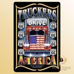 plaque decoration camion deco trucker