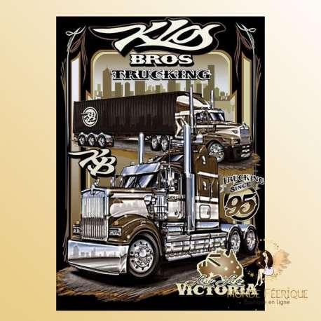 plaque decoration camion routier americain USA