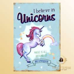 plaque decoration licorne mur