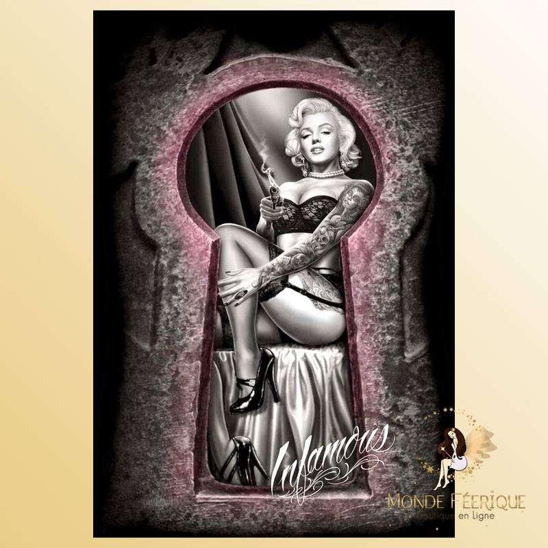 Plaque Décoration Maryline Monroe Premium 30x40cm