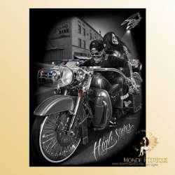 Plaque Décoration Gangster Biker Premium 30x40cm