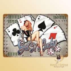 Plaque Décoration Lucky Poker Premium 30x40cm