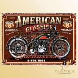 plaque decoration moto americaine USA vintage