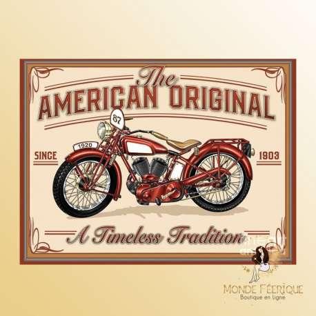 plaque decoration moto vintage pour mur plaque en metal