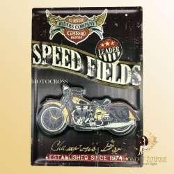 plaque decoration motocross vintage murale