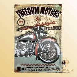 plaque decoration motos vintage custom