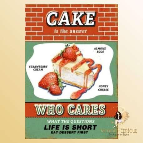 plaque decoration mur cake deco retro publicité americaine patisserie