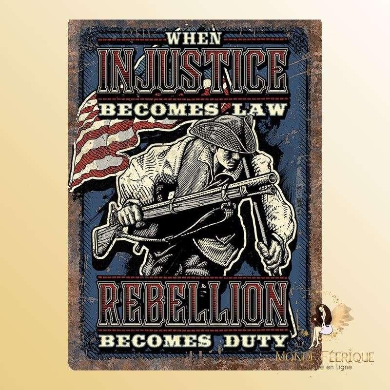Plaque Décoration Rebellion Premium 30x40cm