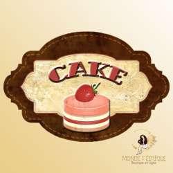plaque decoration murale vintage cake gateaux